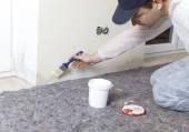 Painters edited damp walls — Stock Photo