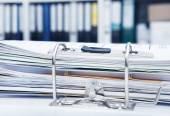 File folders in office — Stock Photo