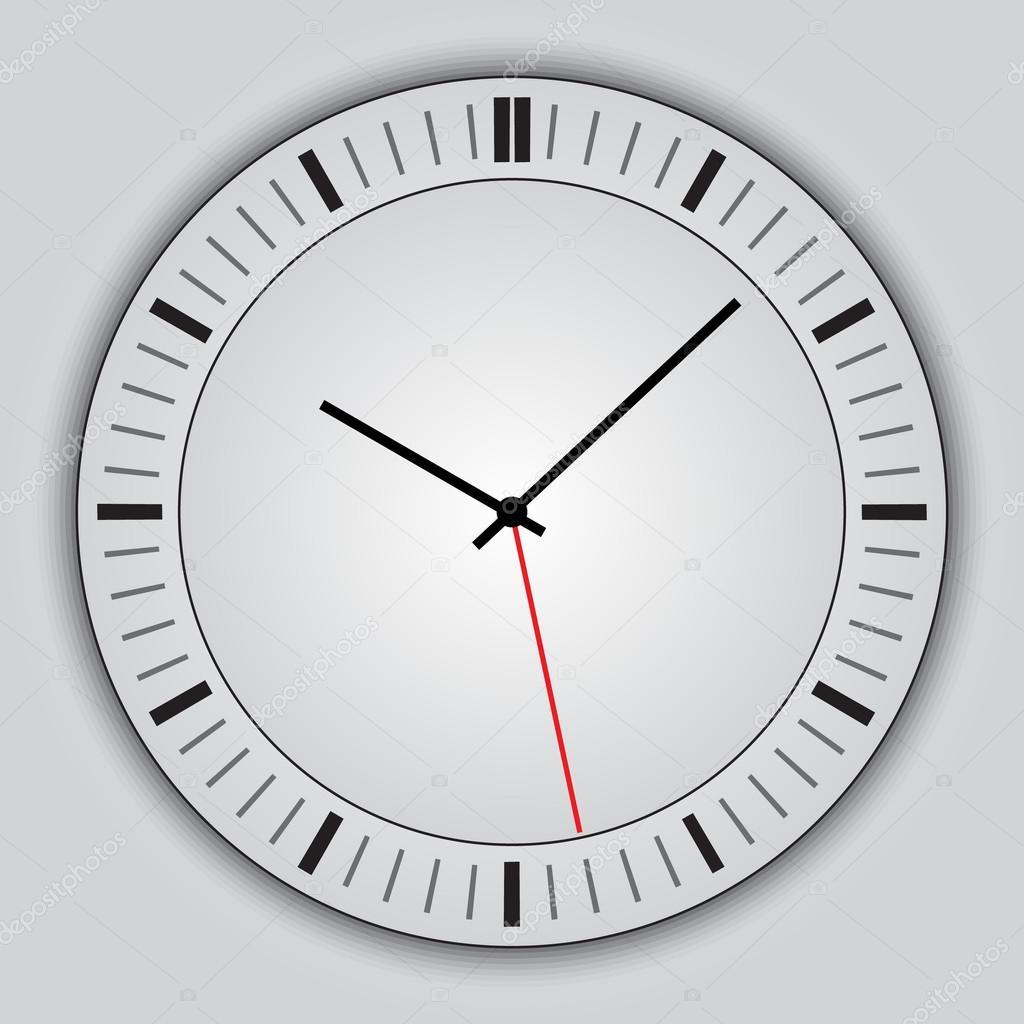 矢量抽象简单圆钟灰色背景– 图库插图