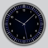 Vector abstract simple round clock — Stockvector