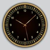 Vector abstract simple round clock — Vector de stock