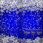Vector Christmas and New Year Background with snowflakes — 图库矢量图片