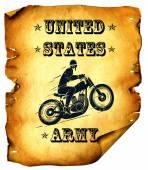 Moto army — Stock Photo