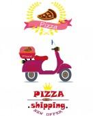 Pizzeria — Vector de stock