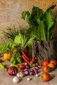 Stilleven groenten, kruiden en fruit. — Foto de Stock