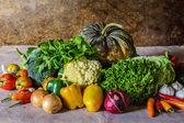 Frutas, ervas e legumes ainda vida. — Fotografia Stock