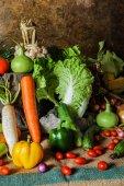 Still life  Vegetables, Herbs and Fruit. — Stok fotoğraf