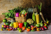 Still life  Vegetables, Herbs and Fruits. — Stockfoto