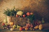 Still life  Vegetables, Herbs and Fruits. — ストック写真