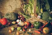 Still life  Vegetables, Herbs and Fruit. — ストック写真