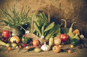 Still life  Vegetables, Herbs and Fruit. — Zdjęcie stockowe