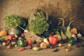Still life  Vegetables, Herbs and Fruit. — Photo