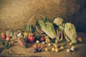 Still life  Vegetables, Herbs and Fruits  — Photo