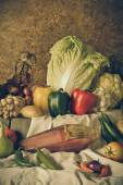 Still life  Vegetables, Herbs and Fruits  — Stock Photo