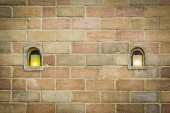 Old walls and decorative lamps — Stock Photo