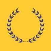 Round laurel foliate. Award concept. — Stock Vector