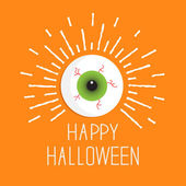 Eyeball with shine lines. — Stock Vector
