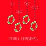 Hanging christmas socks — Stock Vector #58237327