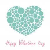 Valentines day green heart — Stockvektor