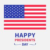 American flag Presidents Day — Vector de stock
