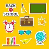 Terug naar school icons set — Stockvector