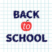 Back to school chalk text — Stock Vector