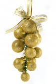 Altın christmas süsleme — Stok fotoğraf