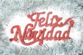 Feliz natal em espanhol — Fotografia Stock