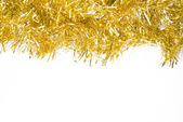 Festive background with gold garland to insert text. — Stok fotoğraf