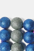 Blue and silver Christmas ornament — Stock Photo