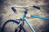 Closeup of handlebar a bike old — Stock Photo