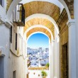 Typical street in Vejer de la Frontera, Andalusia, Spain. — Stock Photo #63018331