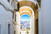 Typical street in Vejer de la Frontera, Andalusia, Spain. — Stock Photo