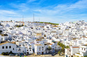 Landscape of a white town, Vejer de la Frontera in Andalusia, Sp — Stock Photo