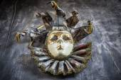Classical venetian carnival mask on wood — Stock Photo
