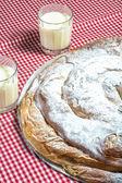 Ensaimada, cake typical of Mallorca, Spain. — Stock Photo