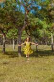 Rejoicing happy little girl — Stock Photo
