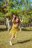 Rejoicing happy little girl — Stock Photo