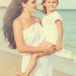 Mother and her little daughter hugging. — Stock Photo #69562511
