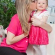Mother kissing her daughter — Stock Photo #78901114