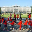 Extracurricular activity, kid visit Independence palace — Stock Photo #51941249