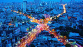 Amazing panaromic of Asia city — Stock Photo