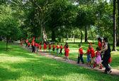 Asia kid activity team building — Stock Photo