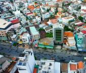 Ho Chi Minh city view, dense urban — Stock Photo