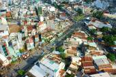 Ho Chi Minh city view, dense urban — Stock Photo