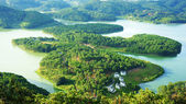 Amazing, beautiful panorama, Dalat travel, Vietnam — Stock Photo