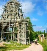 Construction work, construct khmer pagoda gate — Stock Photo