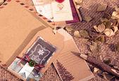 Christmas card, vintage style, abstract handmade — Stock Photo