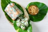 Vietnamese food, goi cuon, salad roll — Stockfoto