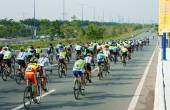 Cycle race, Asia sport activity, Vietnamese rider — Stock Photo